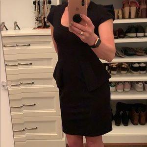 Beautiful Designer Navy Dress with Peplum